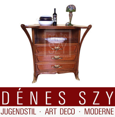 Art Nouveau furniture sideboard with three drawers Louis Majorelle Nancy ca.1900