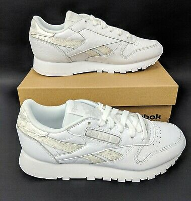 b44a50f79f2 Reebok Classic Leather Womens Shoes Size US 5 UK 2.5 White Youth Marble  CN4021