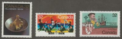 CANADA 1984 #1009-11 3 Commemoratives - MNH
