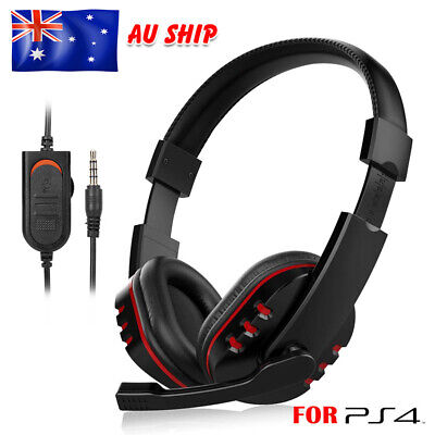 Gaming Headset Headphone Earphones Mic Volume Control for Sony PS4 PlayStation 4