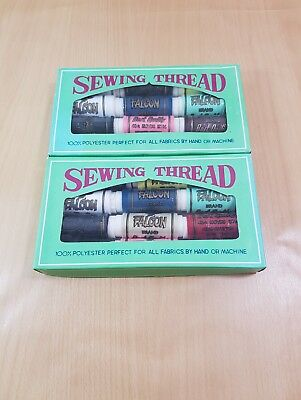 2 Vintage Boxes Of Sewing Thread Facon 100% Polyester, Quilting, Patchwork