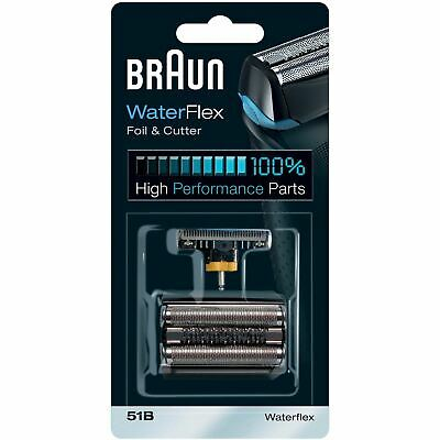 Braun 51B WaterFlex Replacement Foil & Cutter Shaving Head Blades for WF1s, WF2s