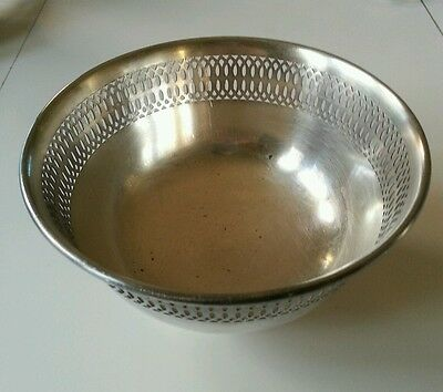 Vintage 1912 FB Rogers Silver on copper small bowl candy dish