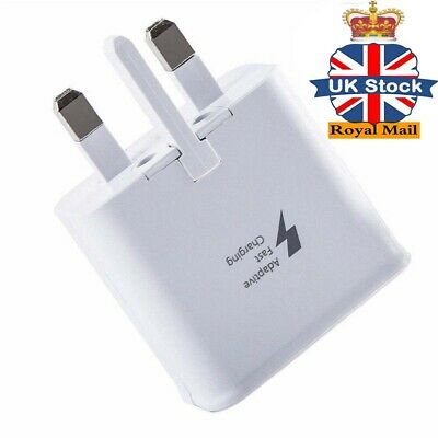 HOT White Genuine Fast Charger UK Plug For Samsung Galaxy S7 Edge S6 S5 Note 4 5
