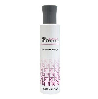 Real Techniques Makeup Brush Cleansing Gel 5.1 fl oz  By Sam And Nic Clean Rinse