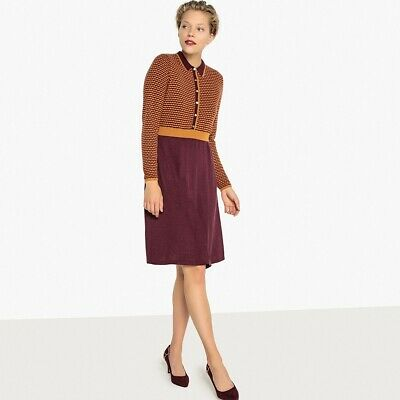 La Redoute Collections Womens Knitted Jacquard Shirt Dress&Nbsp;