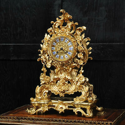 Early Japy Freres Antique French Ormolu Rococo Clock c1840 Superb