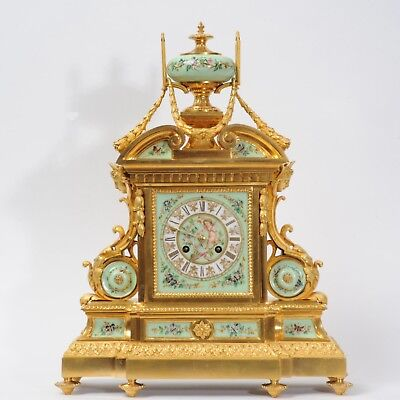 Large And Magnificent Ormolu And Sevres Porcelain Clock By Achille Brocot 1880