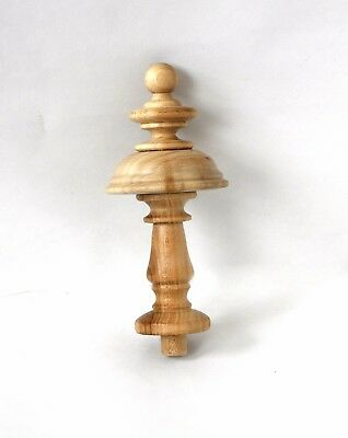 Finials Post, Wood Finial Clock, Craft  Wooden Vintage Cap Newel Furniture
