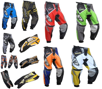 Wulfsport Adult Race Pants Motorbike Motocross MX Leisure