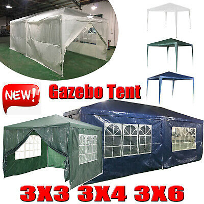 Gazebo 3x 3/6/4m Garden Party Marquee Outdoor Awning Canopy Pavilion Tent Patio