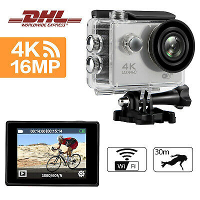 Ultra HD Action Sports Cam WIFI 4K Camera FHD 1080P Wasserdichte Helmkamera 16MP
