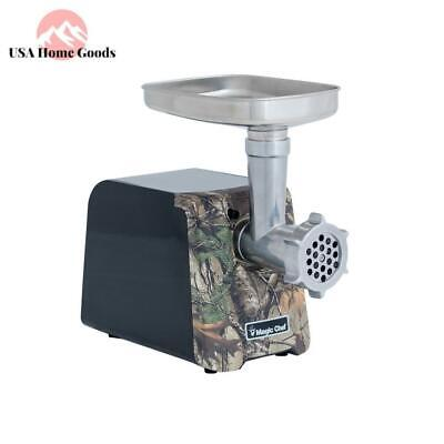 Realtree Camouflage Electric Meat Grinder Reverse Switch W/ Stainless Steel Tray