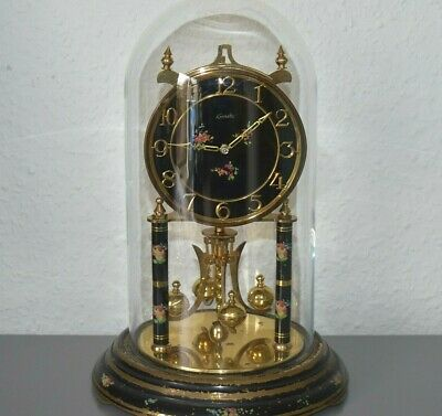 KUNDO 400 day glass dome clock. Made in Germany. Brass. Large size.