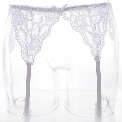Porte Jarretelle Dentelle Blanc 38 40 42 44 Sexy Virgin Zaza2Cats