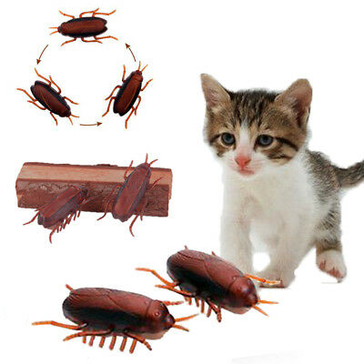 Funny electronic cockroach pet cat puppy kitten interactive training play toy LJ