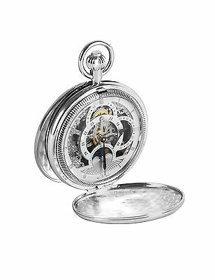 Full Hunter Two Time Zone Pocket Watch With Sun and Moon Dials