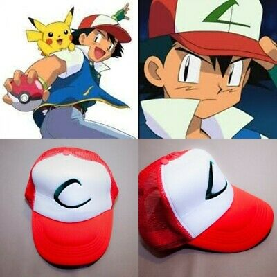 4bbc40b6165 XCOSER POKEMON GO Hat Ash Ketchum Baseball Cap Game Cosplay Costume ...