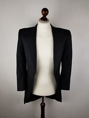 Mens Wedding Suit Groom Black Alexander Dobell Size 34