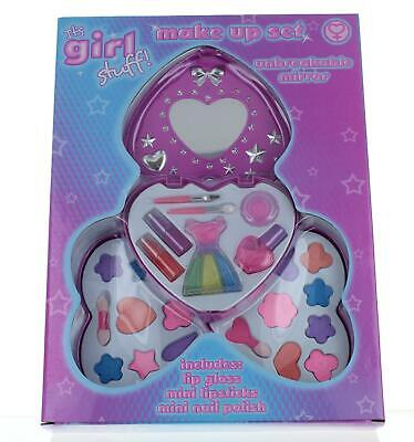 Its Girls Stuff 3 Tray Pink Heart Shape Make Up Beauty Play Set with Mirror Kids