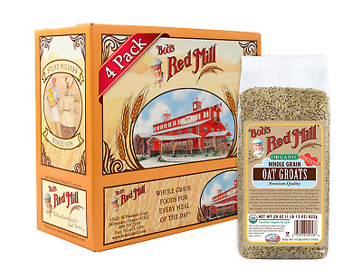 Bobs Red Mill Organic Whole Grain Oat Groats, 29-ounce 29 Ounce