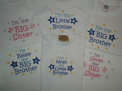 Big Little Brother Sister long-sleeved T-shirt personalised or  I'm going to be