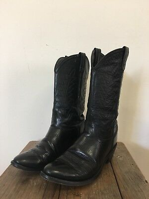 SHEPLERS SCL 7010 Ladies Size 39 Black Leather Cowboy / Western Boots Vintage