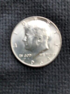1964 D Kennedy half dollar - 90% Silver~uncirculated~free postage & no sales tax