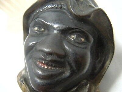 Antique A.c. Williams Cast Iron Coin Still Bank Black Americana  2 Sided Face