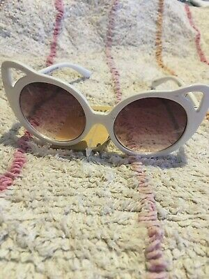 Cotton On Kids White Cat Sunglasses Bnwt Free Post (Cps18)