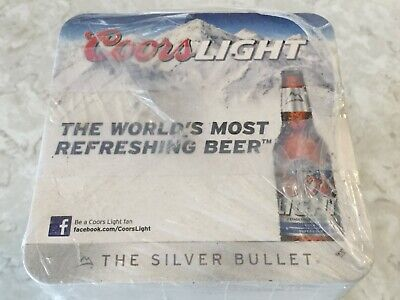 100 Coors LIGHT The Silver Bullet Bar Coasters Beer Coaster Man Cave, Party