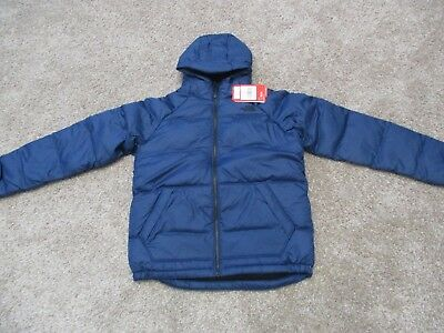 f615a3cf6 NEW NORTH FACE Boys Moondoggy 2 Down Hoodie Jacket Winter Coat M Med ...