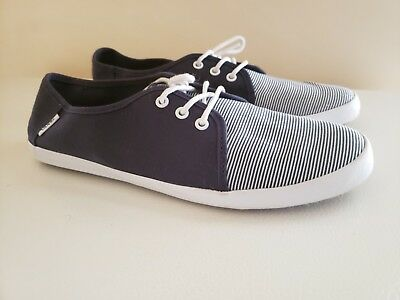 ea7d74bf3c VANS Tazie (Skinny Stripes) Navy White Surf Siders Casual WOMEN S Size 10  EUC
