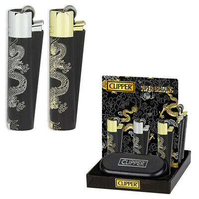 Clipper Accendino Metal Clipper Large Metal Super Dragons