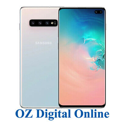 "NEW Samsung Galaxy S10+ Plus Dual G975FD 512GB White 40MP 4G 6.4"" Unlocked Phone"