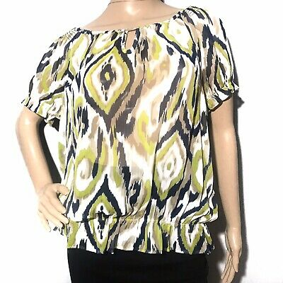 Xixiuly Womens Summer Short Sleeve V Neck Paisley Print Blouses Shirts Casual Tunic Top