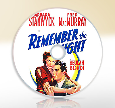 Remember The Night (1940) DVD Classic Comedy Movie / Film Barbara Stanwyck