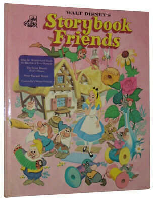 Disney Storybook Friends Vintage (1976) Golden Hardcover Book