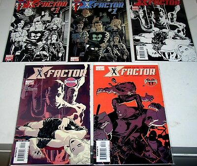 X- Factor 1A 1B 2A 2B And 3    Five (5) Nm 3Rd Series Issues