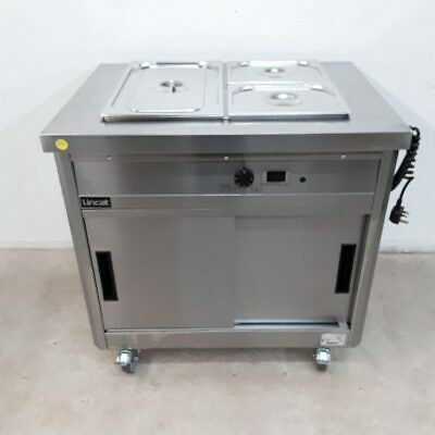 Commercial Bain Marie Hot Cupboard Trolley Wet Lincat P6B2