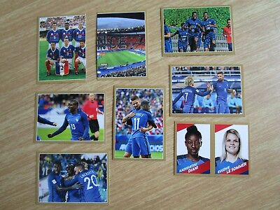 Lot De 8 Stickers Images Panini Carrefour France Fff Coupe Du Monde 2018