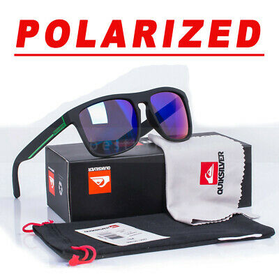 New POLARIZED QuikSilver Sunglasses With Box Outdoor Sport Beach Surfing UV400