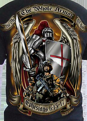 Armor of God T-shirt US Army Marine Corps USAF Navy USMC Christian Bible Quote