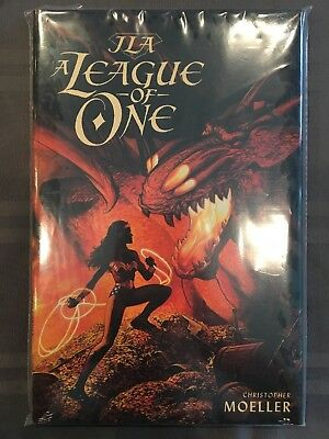 JLA: A League of One Hardcover from 2000 written and painted by Moeller.