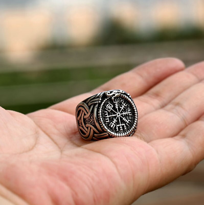 Ring For Men Viking Celtic Knot Pattern Punk Top Quality Stainless Steel Biker