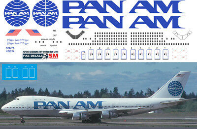 1//144 PAS-DECALS Zvezda Revell Decal For Boeing 747-SP TWA Trans World