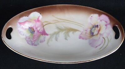 "Vintage P. V. Vessra Oval Celery / Relish Dish 8"" x 4 5/16"" Germany"