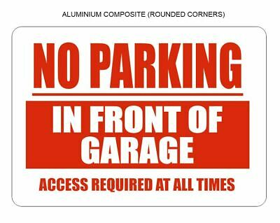 NO PARKING SIGN SUITABLE FOR BUSINESS GARAGE BACKYARD PRIVATE AREA PLAQUE