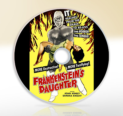 Frankenstein's Daughter (1958) DVD Classic Horror Movie / Film John Ashley