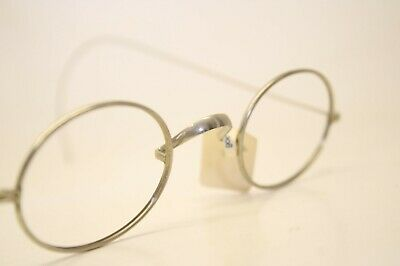 Unused Antique Eyeglasses Silver Oval American Optical Cable Temple Vintage
